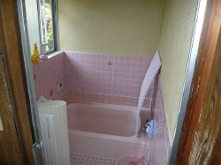 広くてキレイなお風呂ができて、孫と一緒にお風呂に入る夢が叶いました。