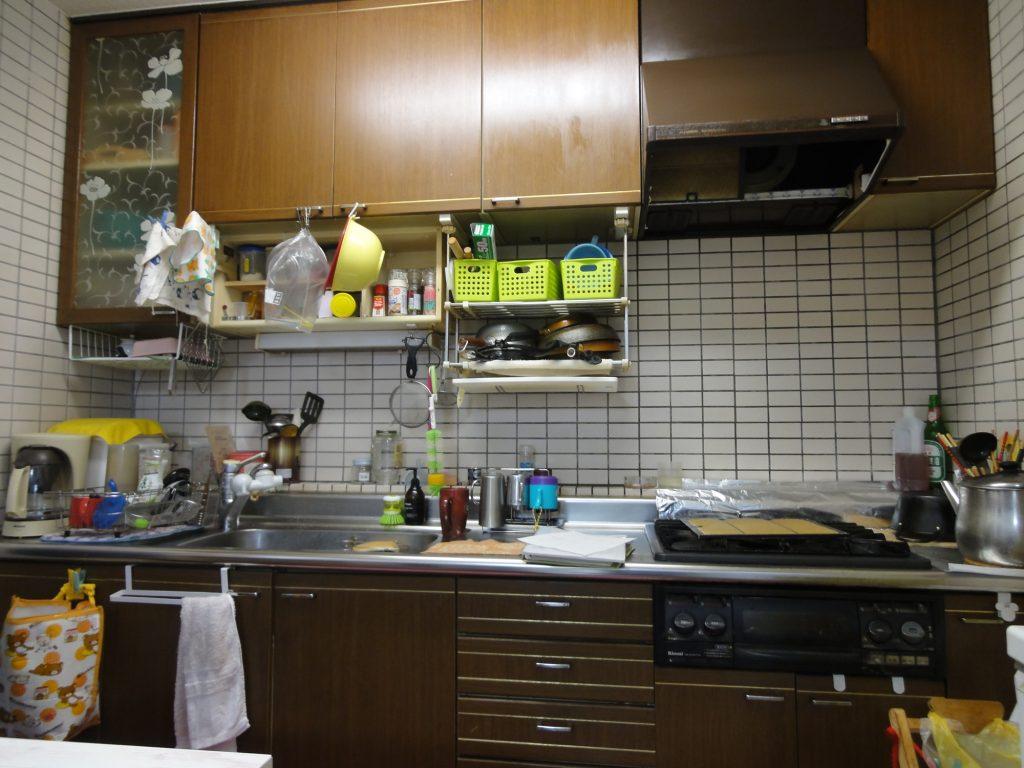 現場のひと工夫で綺麗なキッチンにリフォーム