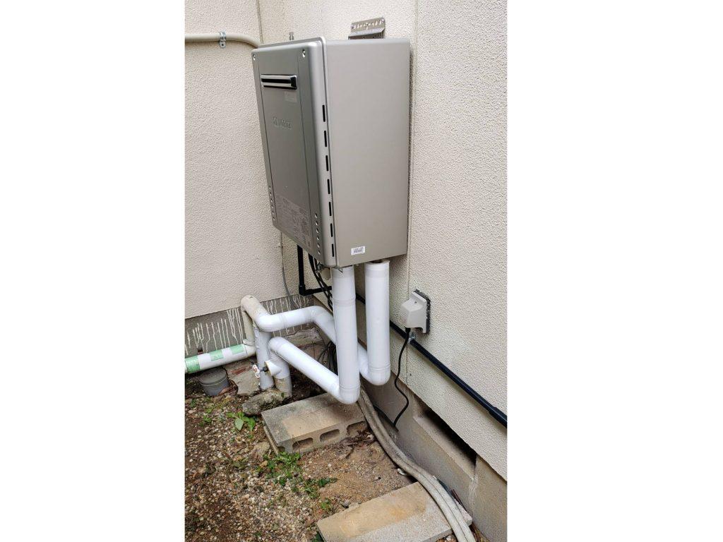 灯油ボイラーからガス給湯器に取替え
