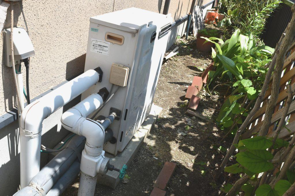 長年お使いのガスふろ給湯器をお取替えしました