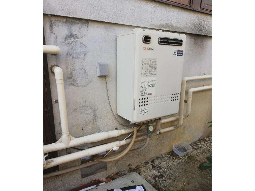 18年使用の給湯器を取替えました