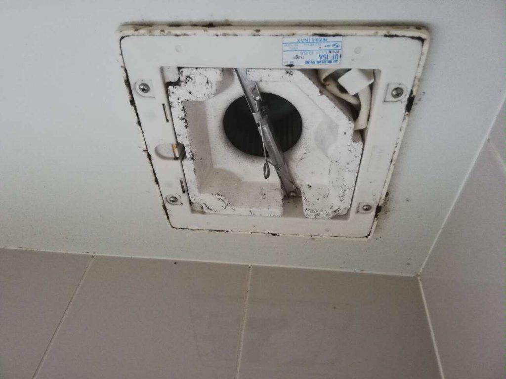 洗面台水栓、浴室換気扇をお取替えしました