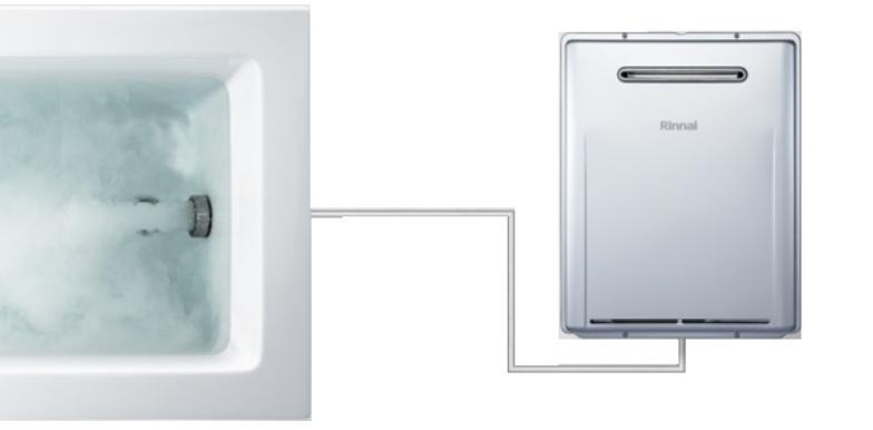 マイクロバブルユニット内蔵型給湯器イメージ