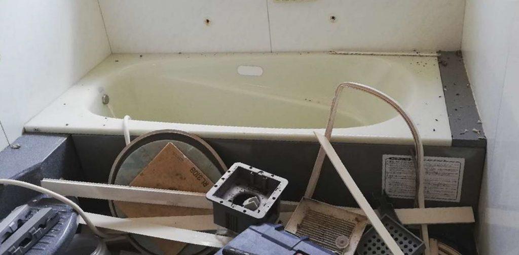 プッシュ水栓がオシャレなシステムバス