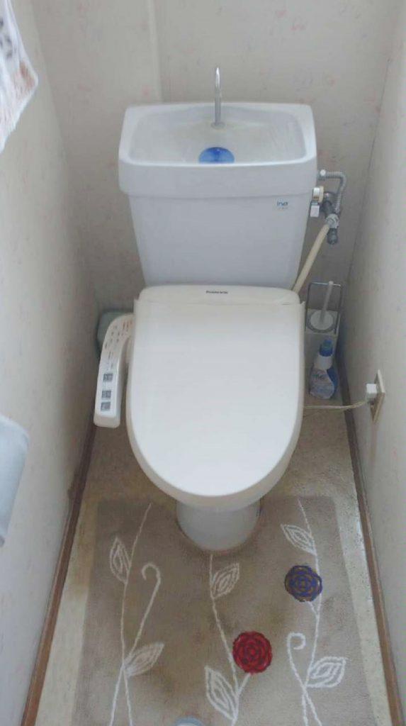 袖付きリモコン⇒壁付リモコンへトイレお取替え