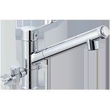 オールインワン浄水栓ハンドシャワー付 分岐式