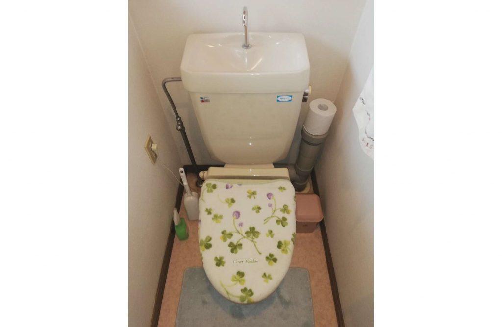一体型トイレに取替えたらお手入れがラクチンに♩