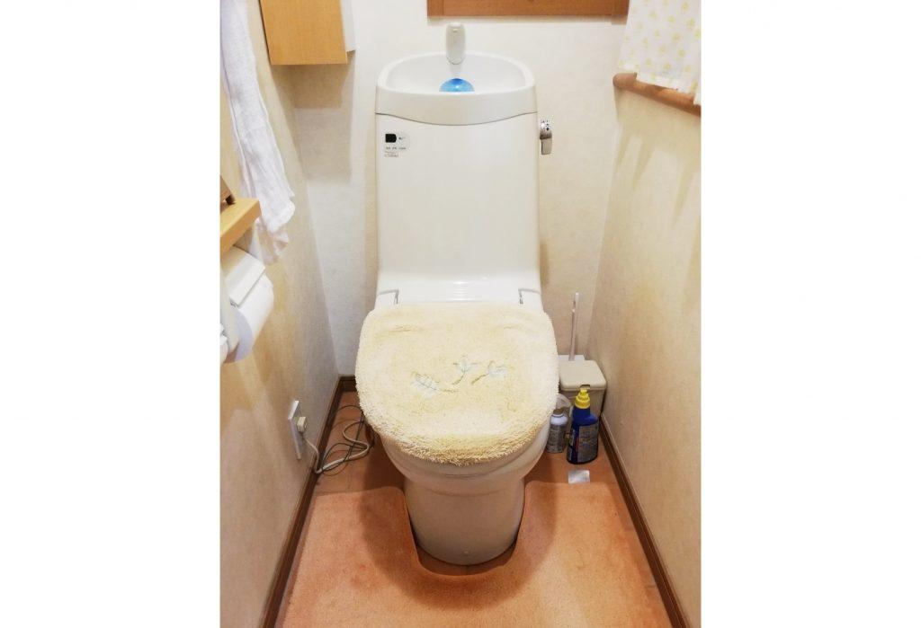 トイレのお取替と一緒にクッションフロアの張替えも♪