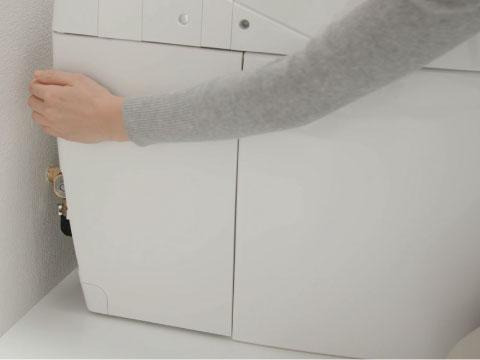 ネオレスト 手動レバータイプ 停電時洗浄方法1