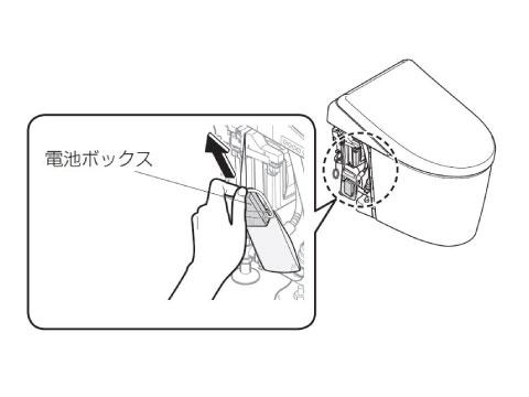 ネオレスト 手動レバータイプ 停電時洗浄方法4