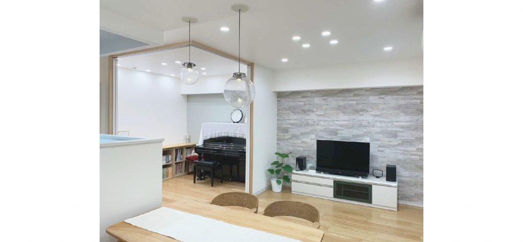 マンションの改修リフォームで素敵な空間に生まれ変わりました♫