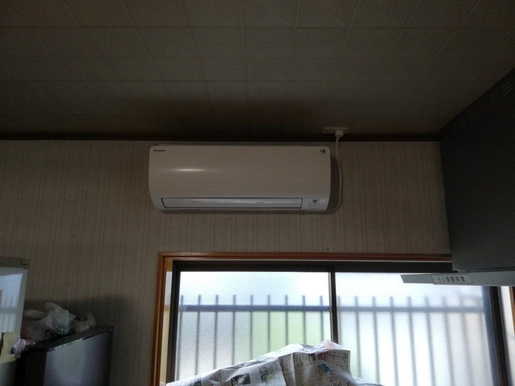 猛暑にご注意!エアコン取付工事