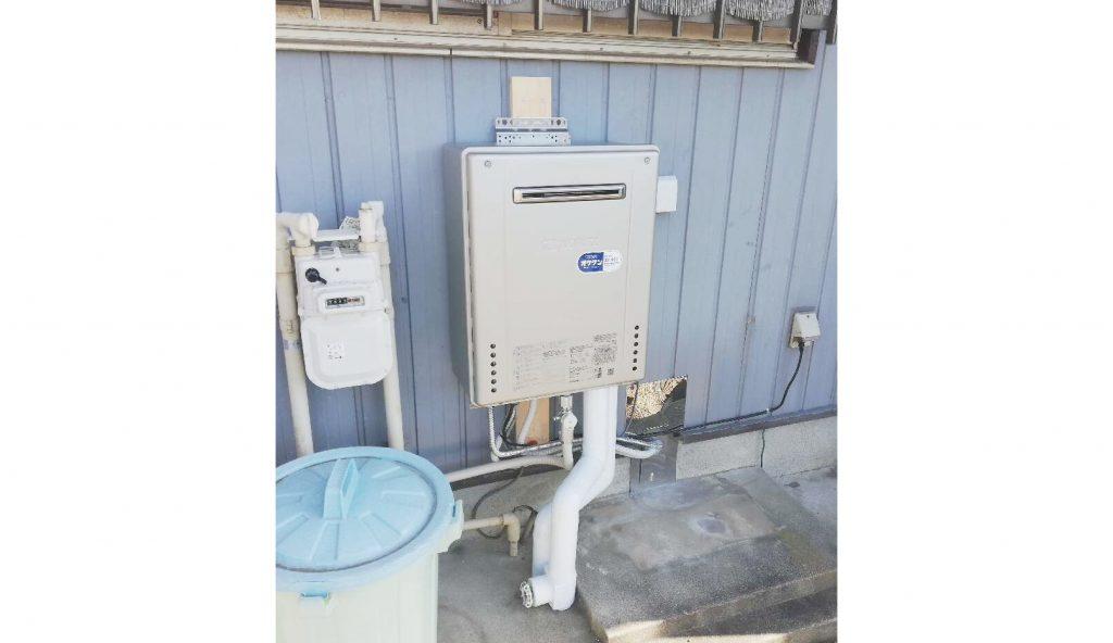 エコジョーズ給湯器、据置式から壁掛式へお取替え!